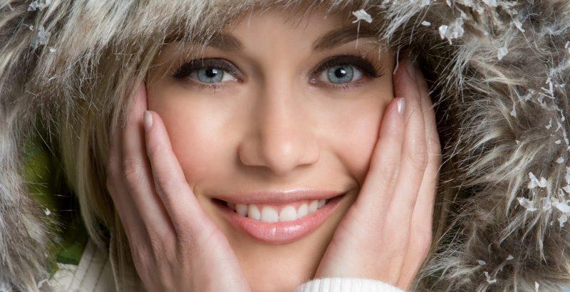 zimowa pielęgnacja twarzy, ust i dłoni