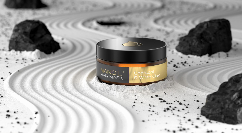 nanoil maska na włosy z węglem
